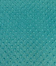 Minky à pois turquoise/aqua ( 0.99€/10cm)