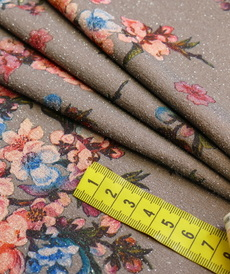 Jersey lurex stretch japonisant gris