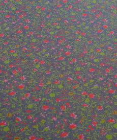Coton imprimé jeans fleuri coloré