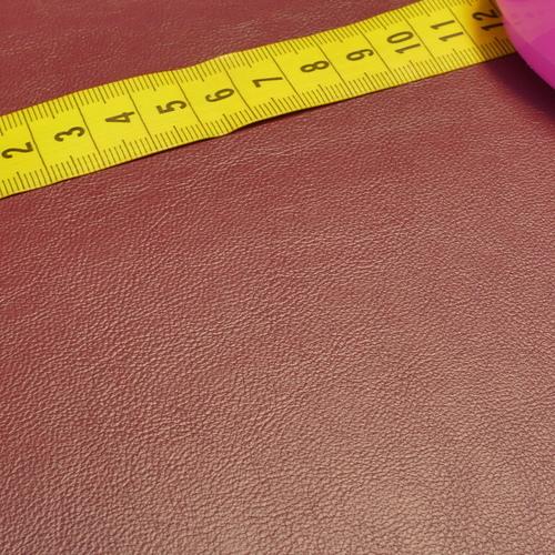 Similicuir bordeaux doublé à l'arrière (1.20€/10cm)