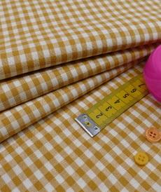 Coton vichy ocre (0.9€/10cm)