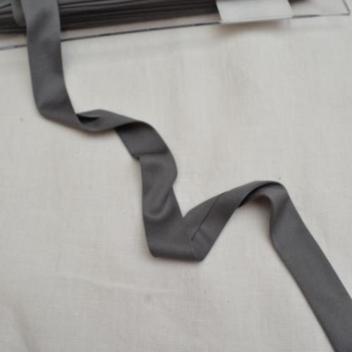 Ruban biais jersey 20 mm gris souris