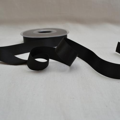 Ruban satin luxe double face 16 mm noir