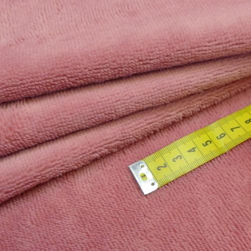 Eponge de Bambou coton vieux rose ( 1.39€/10cm)