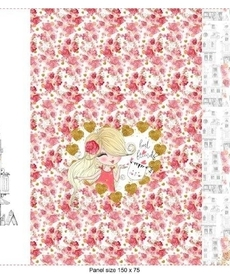 Panneau Stenzo la petite fille aux fleurs