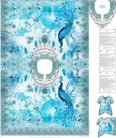 Tissu voile de coton soyeux panneau complet Stenzo