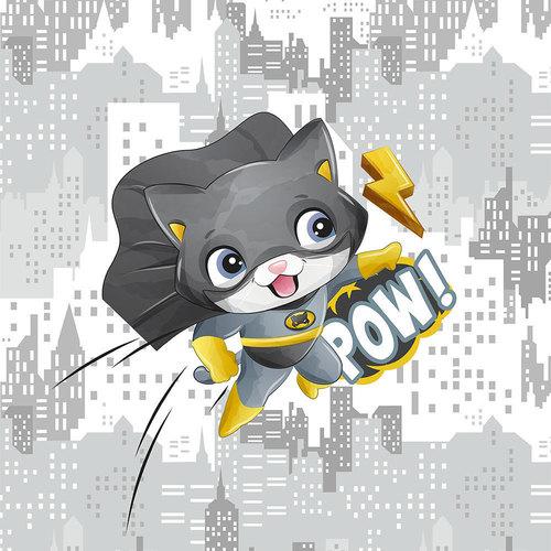 Panneau en jersey sweat chat hero