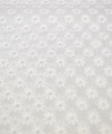 Coton blanc brodé Hilco (2.2€/10cm)