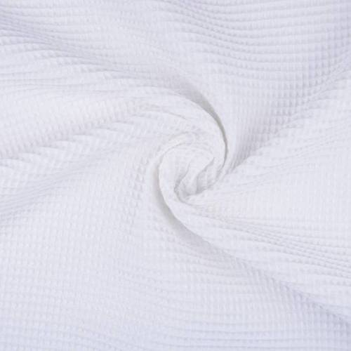 Tissu éponge nid d'abeilles coton blanc (1.15€/10cm)