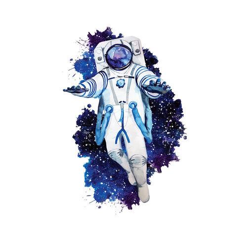 Panneau en jersey sweat Cosmonaute