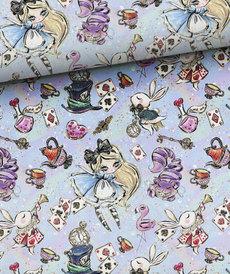 Jersey Sweat bouclette Alice in Wonderland