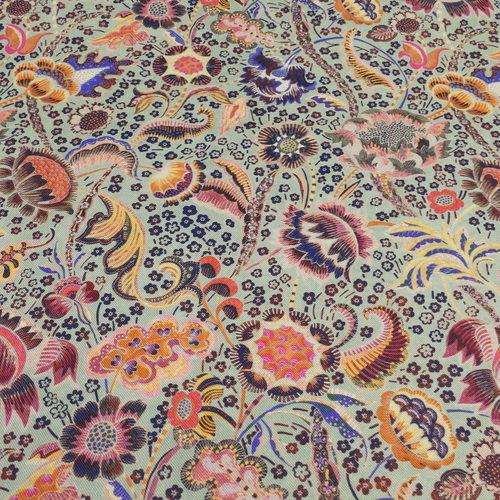 Tissu viscose imprimé fleuri A la Ville by Bittoun (10cm/2.69€)