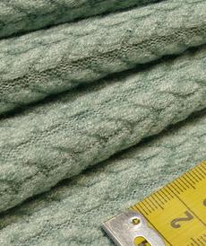 Maille torsadée duveteuse vert tendre A la Ville By Bittoun (10cm/2.13€)