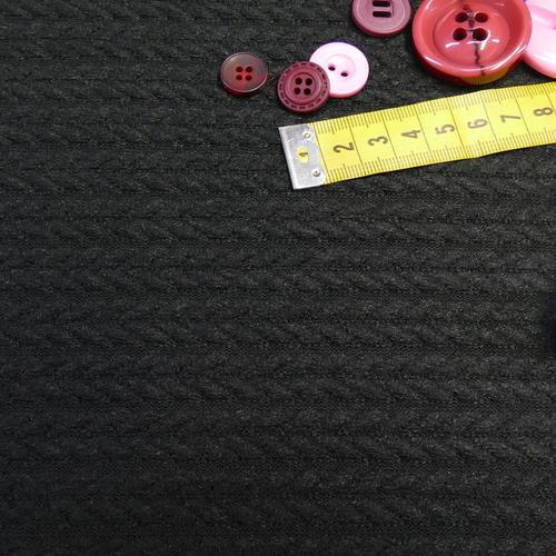 Maille torsadée duveteuse noir A la Ville By Bittoun (10cm/2.13€)