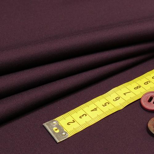Jersey punta di Milano satiné aubergine Hilco ( 10cm/2.50€)