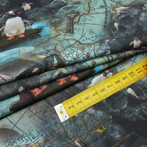 """Jersey sweat bouclettes """"le tour du monde des animaux"""" Stenzo (10cm/1.95€)"""