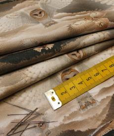 """Jersey sweat bouclettes """"l'envol du hibou"""" by Stenzo(10cm/1.95€)"""