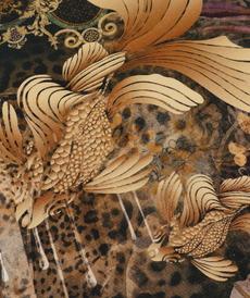 Jersey de coton imprimé digital Floral Stenzo ( 10cm/1.69€)