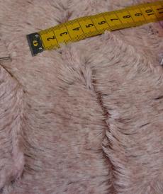 Maille fourrure rose poudré Hilco (10cm/3.4€)