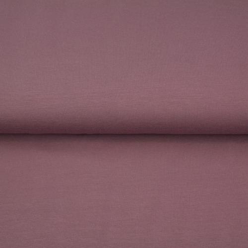 Jersey sweat molletonné vieux rose (10cm/1.29€)