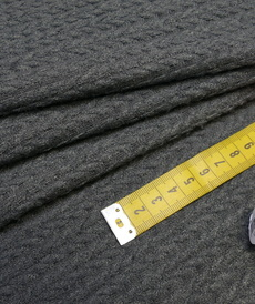 Maille torsadée duveteuse anthracite A la Ville By Bittoun (10cm/2.13€)