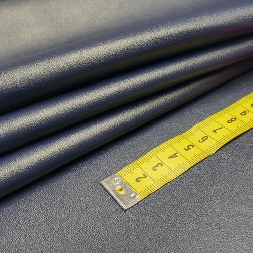 Similicuir marine doublé à l'arrière (1.20€/10cm)