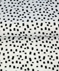 Tissu coton imprimé confettis fond blanc Stenzo (0.9€/10cm)