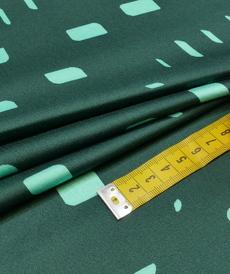 """Tissu viscose satiné """"green""""géométrique (10cm/2.95€)"""