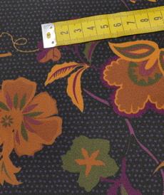 """Tissu crêpe fluide imprimé """"créative flowers"""" (10cm/2.3€)"""