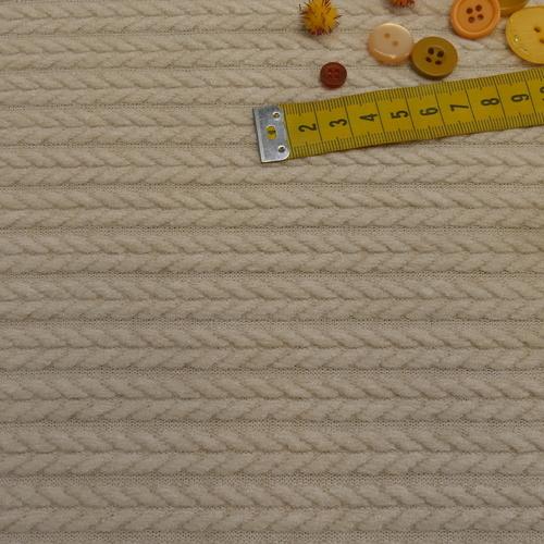 Maille torsadée duveteuse naturel A la Ville By Bittoun (10cm/2.13€)