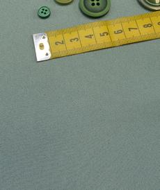 Tissu crêpe double face vert ancien A la Ville by Bittoun (10cm/2.05€)