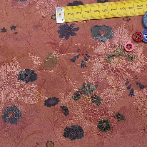 Tissu jacquard rayon soyeuse imprimé A la Ville by Bittoun (10cm/3.67€)