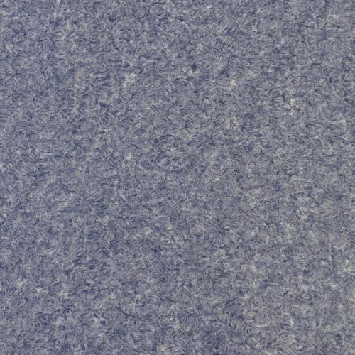 """Tissu lainage pour manteau """"soft bouclet"""" bleu (10cm/2.49€)"""