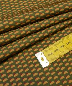 Tissu crêpe fluide imprimé rétro A la ville by bittoun (10cm/2.60€)