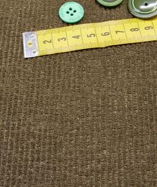 Tissu velours fines côtes kaki taupé A la Ville by Bittoun ( 10cm/1.79€)