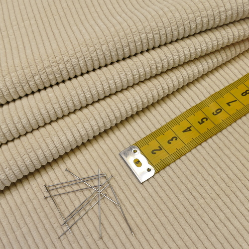 Tissu velours fines côtes crème A la Ville by Bittoun ( 10cm/1.79€)