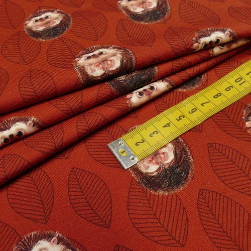 """Jersey sweat bouclettes """"hérissons"""" brique by Stenzo (10cm/1.95€)"""