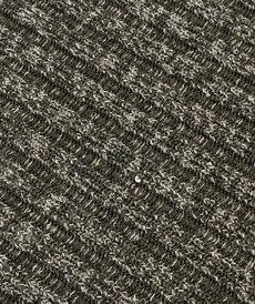 Maille jacquard à côtes noir chiné (10cm/2.10€)
