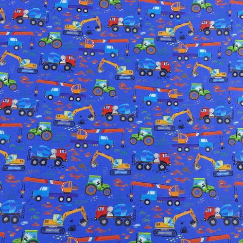 "Jersey de coton bleu ""truck"" by Stenzo (10cm/1.7€)"