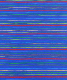 Jersey de coton bleu rayé by Stenzo (10cm/1.7€)