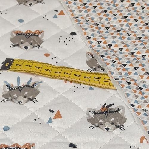 Tissu coton matelassé ROCKET/ARLYMINI (10cm/2.15€)