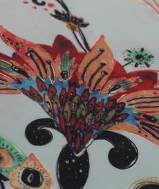 "Tissu crêpe fluide à motifs ""A la ville"" By Bittoun"