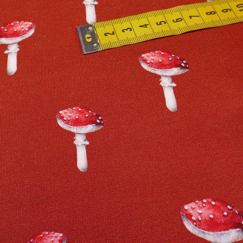 """Jersey sweat bouclettes """"champignons"""" brique by Stenzo (10cm/1.95€)"""