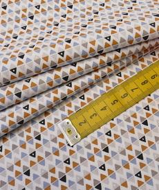 """Tissu cretonne imprimé géométrique """"ARLYMINI""""  ( 10cm/0.85€)"""