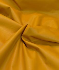 "Tissu imitation cuir moutarde ""A la ville"" by Bittoun"