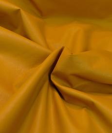 """Tissu imitation cuir moutarde """"A la ville"""" by Bittoun (2.35€/10cm)"""