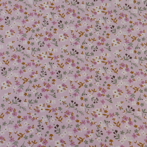 "Tissu cretonne imprimé ""Zalia"" fleuri rose ( 10cm/0.85€)"