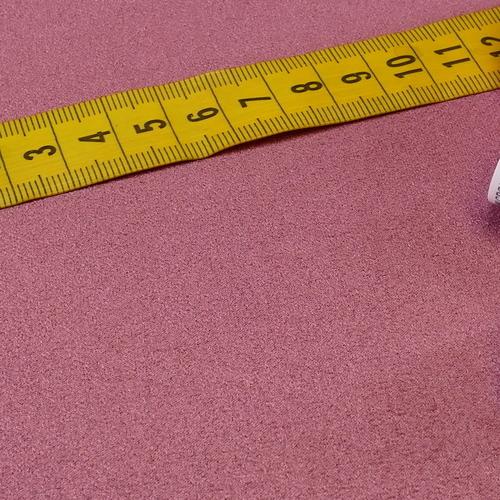 Scuba suédine bi-stretch bois de rose ( 10cm/2.15€)