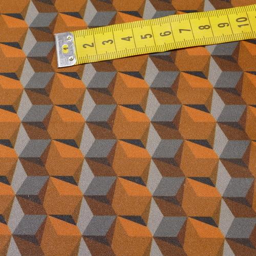 Scuba bi-stretch imprimé rétro 3D ( 10cm/3.8 €)