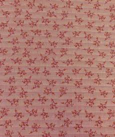 Coton chevron imprimé petites fleurs bordeaux qualité GOTS (10cm/2.15€)